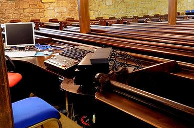 Church Audio visual desk