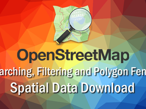 Downloading OSM Roads, Buildings and POI from the Map
