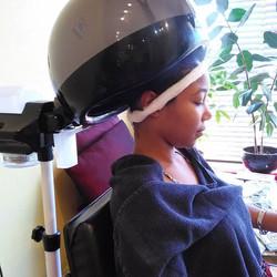 Moisturizing Treatment Schwarzkopt Color Save on Scalp and Mizani Silkcream Moisturizer on the Hair