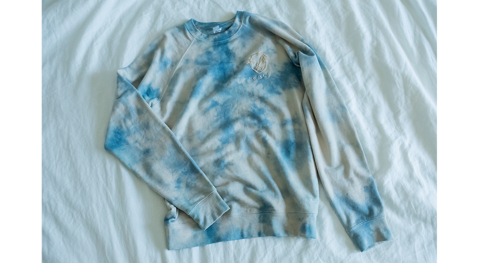 The Essential Tie Dye Embroidered Crewneck