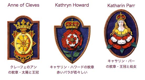 ヘンリー8世王妃 アン・オブ・クレーブス キャサリン・ハワード キャサリン・パー