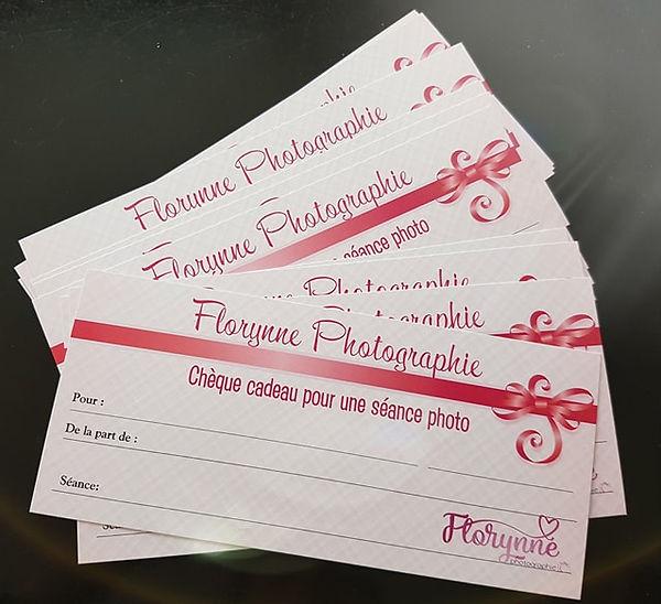 Chèque cadeau Florynne photographie