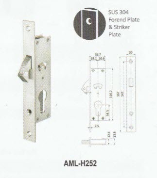 Mortise Hook Lock H252