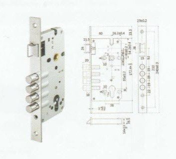 Mortise Lock - Four Bolts