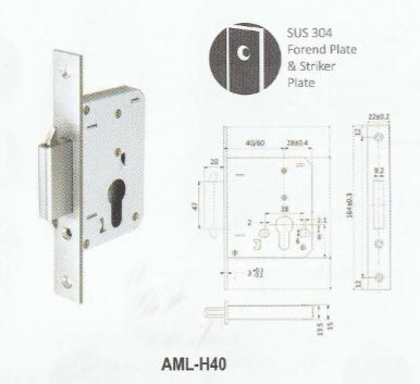 Mortise Hook Lock H40
