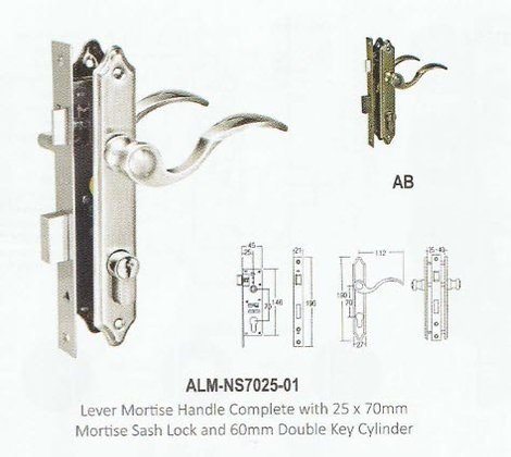 Lever Mortise Handle set