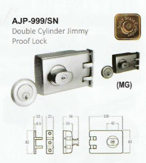 Double Cylinder Jimmy Proof Deadbolt Lock PAJP-999
