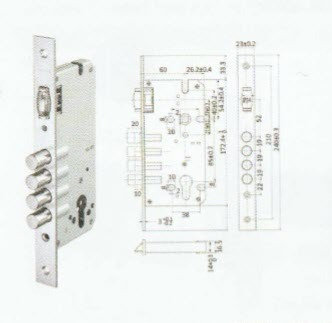 Mortise Lock - Four Bolts Roller