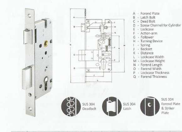 Mortise Lock  -Latch
