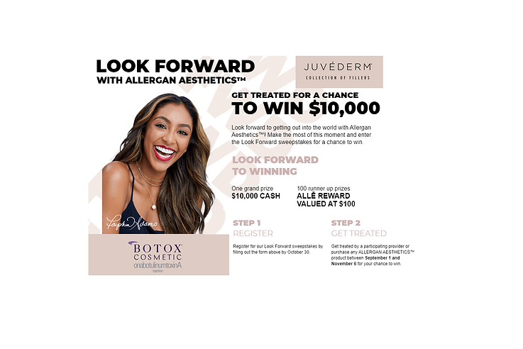 Win $10,000 Allergan Aesthetics