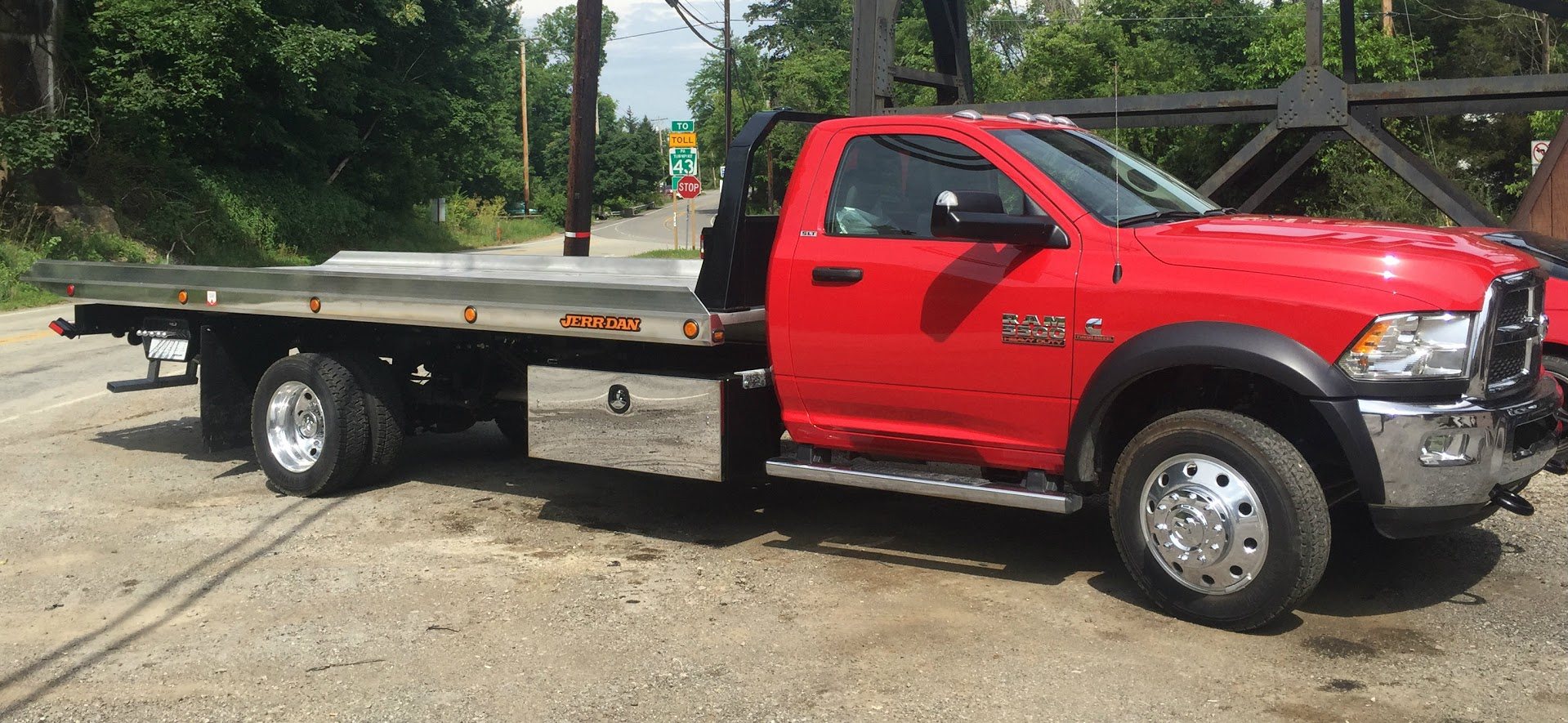 Red dodge carrier
