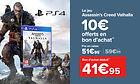 Jeu Assassin's Creed Valhalla sur PS4, PS5 & Xbox One + 10€ de Bon d'achat sur les JV