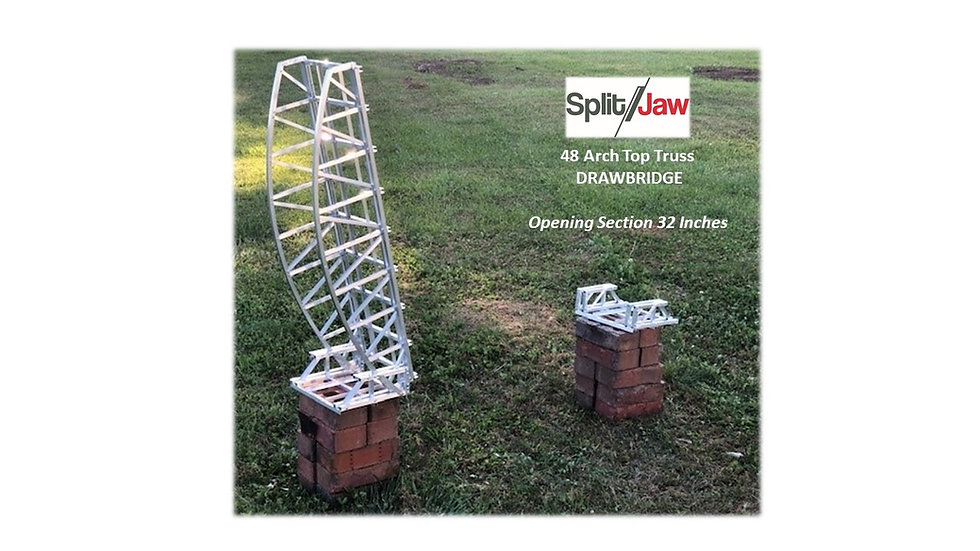 "51"" Aluminum Arch top Drawbridge - Single track"