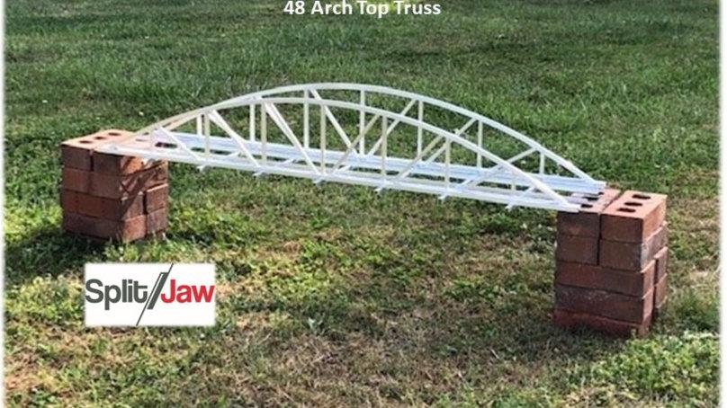 "48"" Aluminum Arch Truss - Single Track - No Walkway"