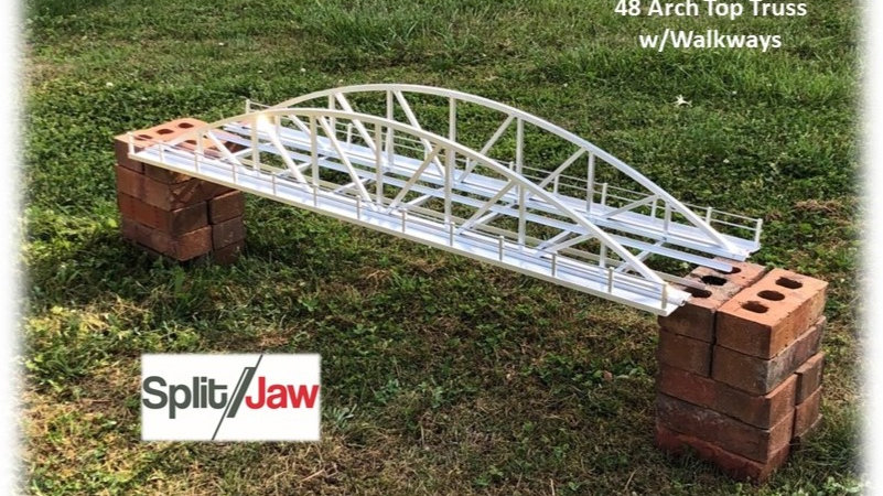 """48"""" Aluminum Bowstring Arch Truss - Single Track - With Walkways"""