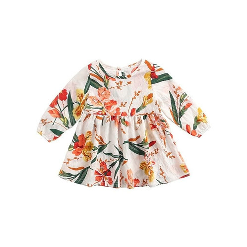 Autumn long sleeve floral dress