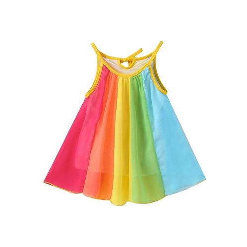 Rainbow flow dress