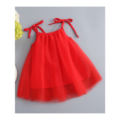 Red infant tie me up dress