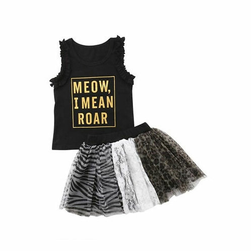 Ruffle tank and tutu skirt