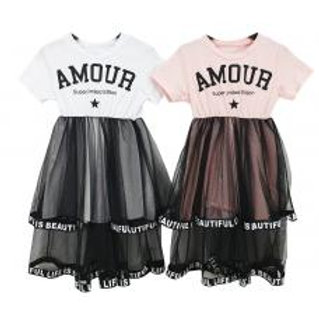 """Amour"" mesh dress"