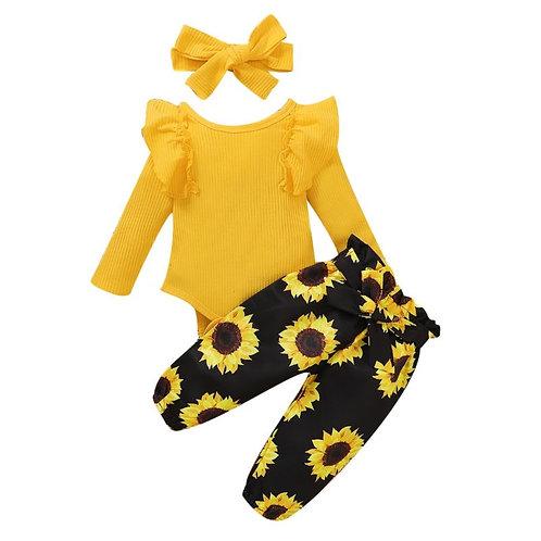 Sunflower infant set (3piece set)