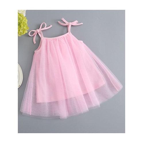 Pink infant tie me up dress