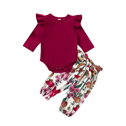 Floral fall set (2 piece)