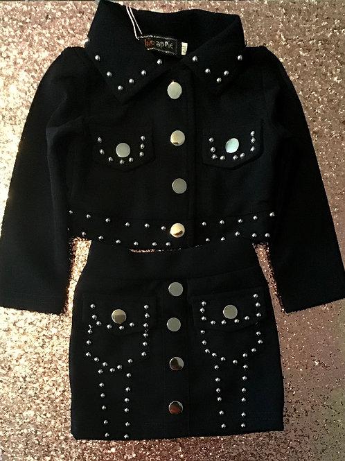 Studded 2 piece skirt set