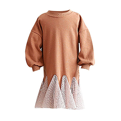 Toffee mesh dress