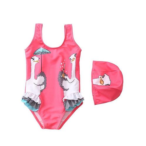 Ruffle 2 piece swimsuit