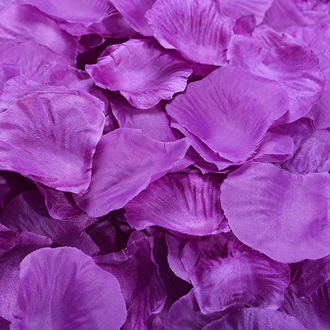 juyo vonsan 1000pcs purple artificial rose pettals for wedding decor