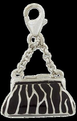 Zebra Csíkos Táska Charm