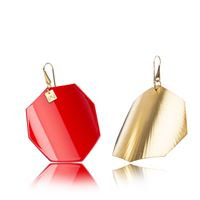 SCARLETRED-OCTAGON-YELLOW GOLD