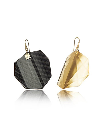 CARBON-OCTAGON-YELLOW GOLD