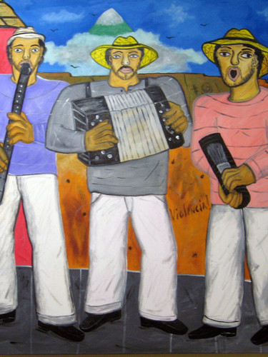 Musicos on the street2019acrylic on canv