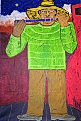 Man-with-blue-flute-50-x-36-acrylic-on-canvas-Francisco-Vidal-jpeg