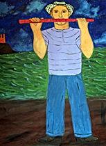 Flautist-on-the-night-44-x-54-oil-on-canvas-Francisco-Vidal-jpeg