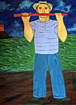 Flautist-on-the-night-44-x-54-oil-on-canvas-Francisco-Vidal-jpeg