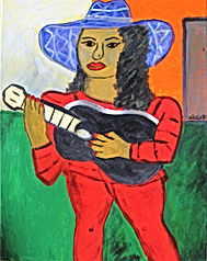 Girl-with-Black-guitar-14-x-11-acrylic-on-canvas-Francisco-Vidal-jpeg