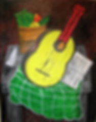 YellowGuitar2019Acryliconcanvas14x11FranciscoVidal$8.500jpeg
