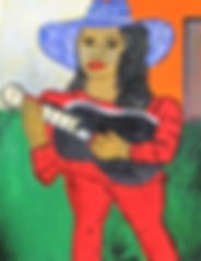 Girl with a black guitar 19acryliconcanvas14x11FranciscoVidal$8.500jpeg