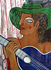 Girl-with-blue-guitar-24x18-acrylic-on-canvas-Francisco-Vidal-peg