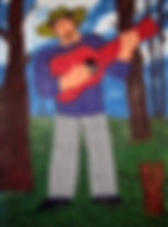 Guitarist-play-on-Spring-54-x-44-acrylic-on-canvas-