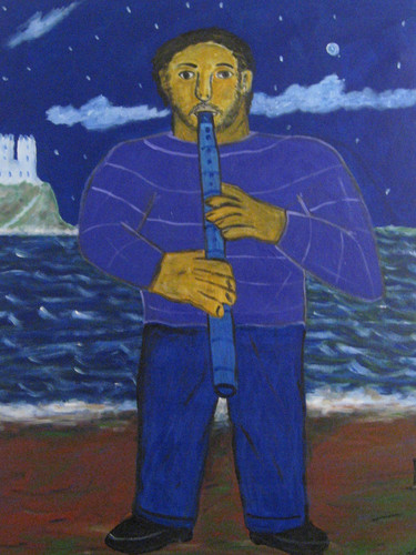 Flautist on the beach19acrylic on canvas