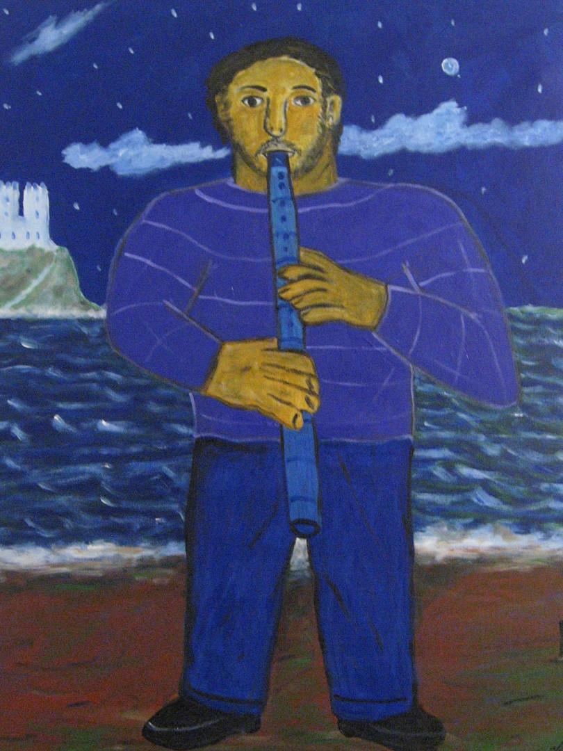 Flautist on the beach19acrylic on canvas