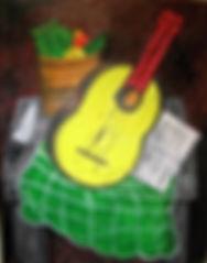 Yellow-Guitar-14-x-11-acrylic-on-canvas-