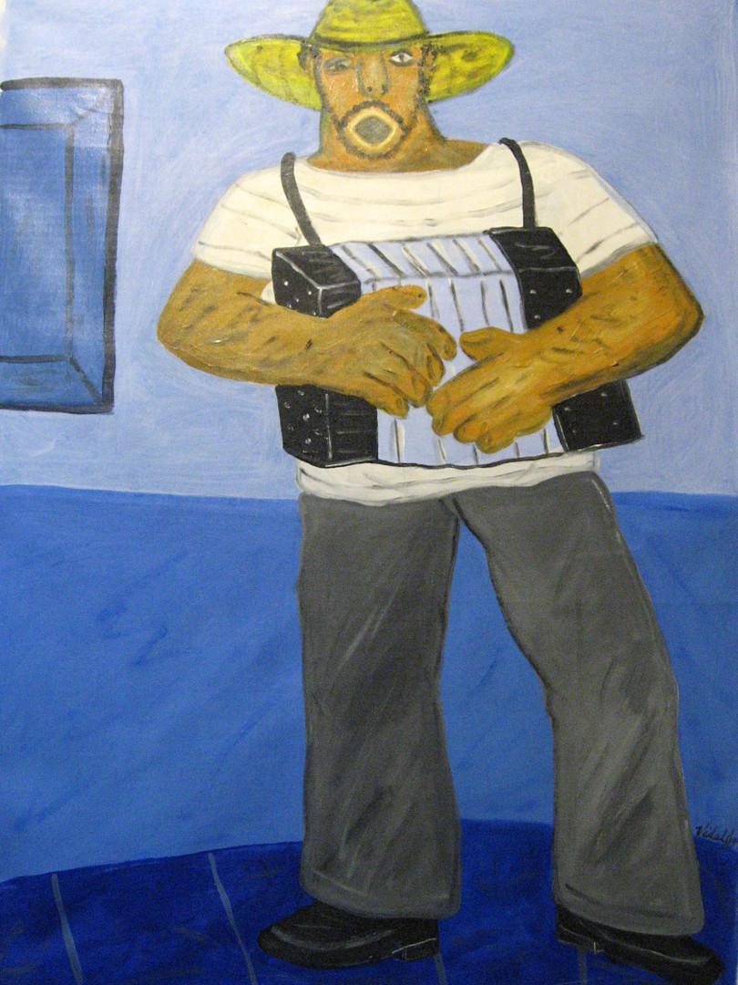 Man with a Blue Acordeon19 acrylic canva