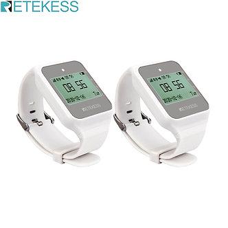 2pcs RETEKESS TD108 Multi-Language Watch Receiver Wireless Waiter Calling System