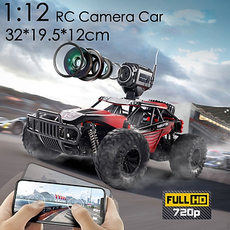 2020 NEW 1:12 RC Car  2.4GHz 4WD With HD Camera Cars Off Road Buggy Toy High
