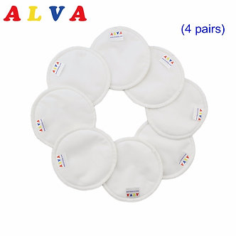 8pcs Alvababy Reusable Bamboo Breast Pad Nursing Pads for Mum Washable Reusable